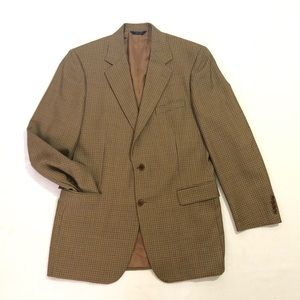 Brooks Brothers Wool Houndstooth Coat